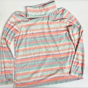 Columbia Multicolor Fleece Turtleneck, Sz XL